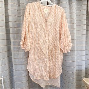 Anthropologie Maeve Boho Button Front Tunic Top